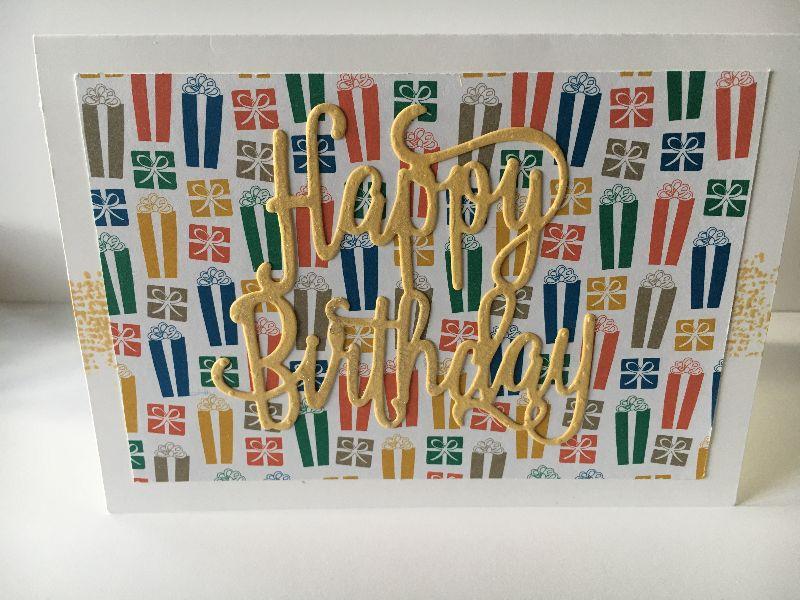 - Glückwunschkarte zum Geburtstag mit Grusstext in Handarbeit gefertigt aus Karton  - Glückwunschkarte zum Geburtstag mit Grusstext in Handarbeit gefertigt aus Karton