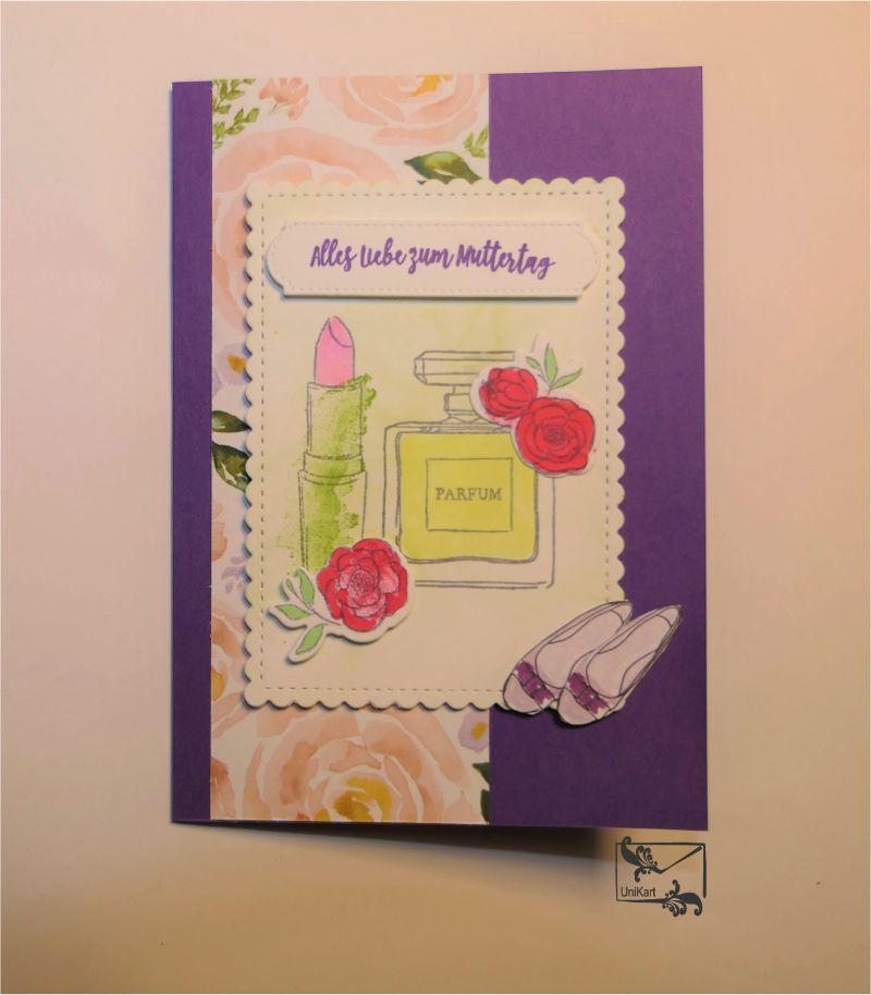 -  ♡ Muttertagskarte ♡ mit Grußtext Handarbeit Stampin up!  -  ♡ Muttertagskarte ♡ mit Grußtext Handarbeit Stampin up!