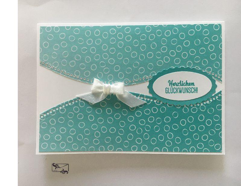 - Glückwunschkarte zum ♡Geburtstag♡ Pastelltöne mit Grusstext Handgefertigt mit Stampin