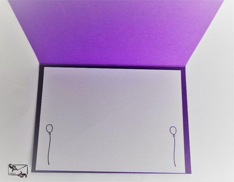 Kleinesbild - Grußkarte mit Grußtext Handarbeit Lila Töne Stampin up und andere