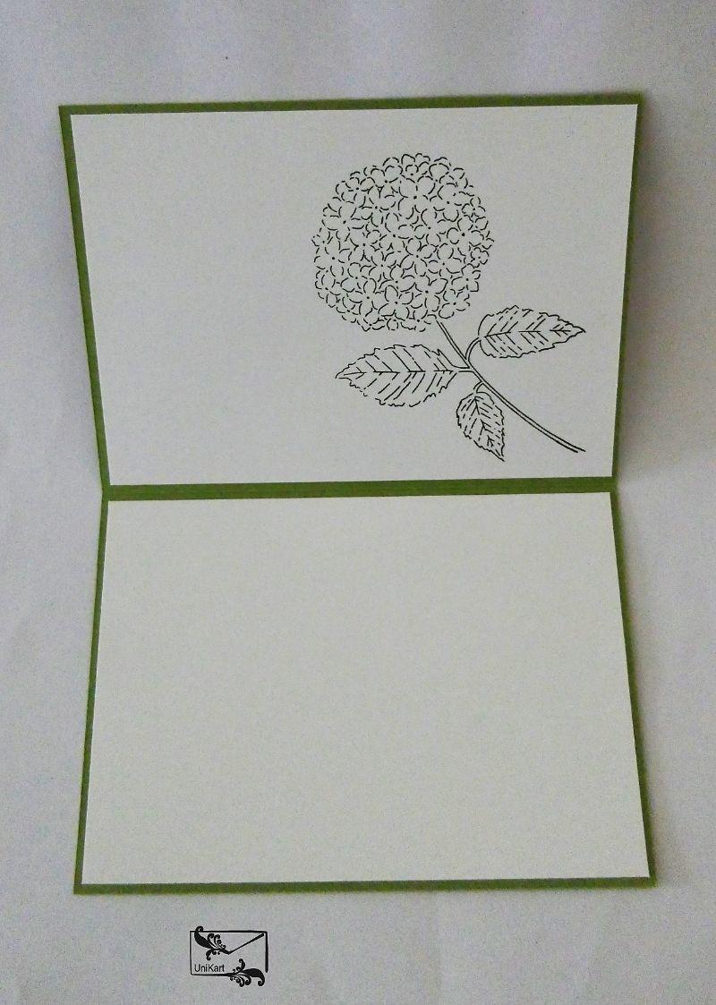 Kleinesbild - Glückwunschkarte zum ♡Geburtstag♡ mit Grusstext Handgefertigt mit Stampin