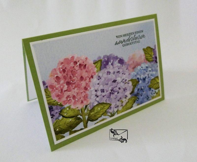 - Glückwunschkarte zum ♡Geburtstag♡ mit Grusstext Handgefertigt mit Stampin