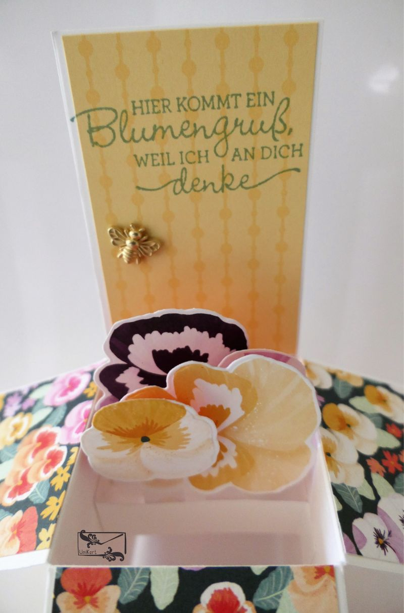 Kleinesbild - Besonders geformte Florale Grußkarte Glückwunschkarte Stampin up!