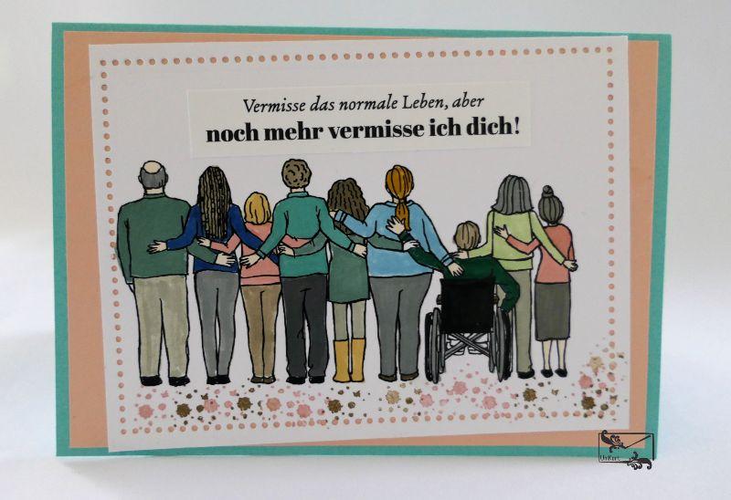 - Bunte Freundschaftskarte Grußkarte / Stampin up! Handarbeit    - Bunte Freundschaftskarte Grußkarte / Stampin up! Handarbeit