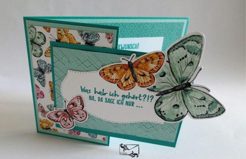 - Besonders geformte Glückwunschkarte zum Geburtstag Stampin up! Mit Schmetterlingen - Besonders geformte Glückwunschkarte zum Geburtstag Stampin up! Mit Schmetterlingen