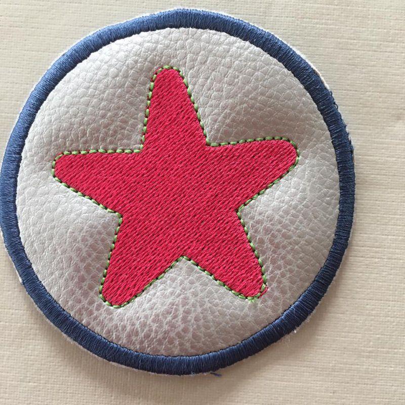 Kleinesbild - Stickdatei * Klett - Buttons*  ITH 10x10 *Stern und Blanko*