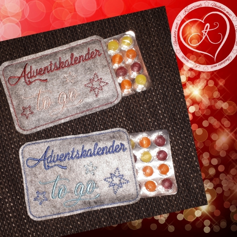 - Stickdatei  * Adventskalender to go*    13x18   ITH   Hülle für Mini-Adventskalender - Stickdatei  * Adventskalender to go*    13x18   ITH   Hülle für Mini-Adventskalender