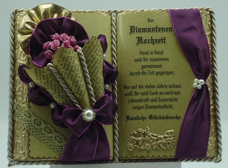 Anlasse Deko Buch Diamantene Hochzeit Mit Holz Buchstander
