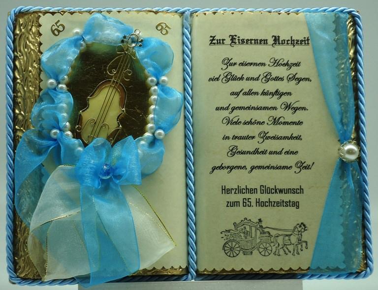 - Deko-Buch zur Eisernen Hochzeitmit Holz-Buchständer - Deko-Buch zur Eisernen Hochzeitmit Holz-Buchständer