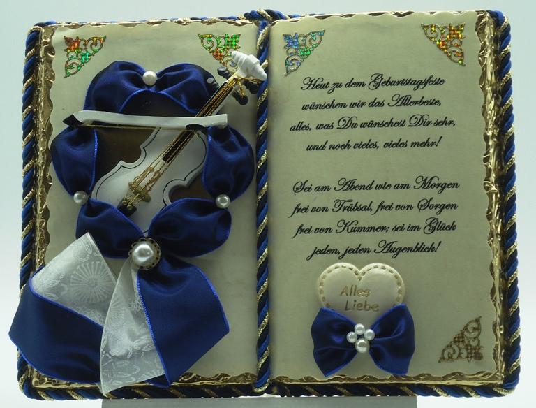 - Dekobuch zum Geburtstag – mit Holz-Buchständer - Dekobuch zum Geburtstag – mit Holz-Buchständer