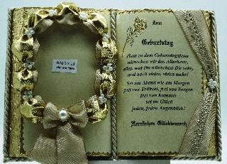 Kleinesbild - Dekobuch für Foto zum 50. Geburtstag – mit Holz-Buchständer
