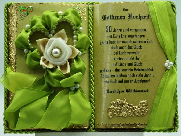 - Goldene Hochzeit – 50-jähriges Ehejubiläum – Dekobuch mit Holz-Buchständer - Goldene Hochzeit – 50-jähriges Ehejubiläum – Dekobuch mit Holz-Buchständer
