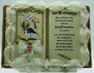 - Konfirmation - Dekobuch (mit Holz-Buchständer)  - Konfirmation - Dekobuch (mit Holz-Buchständer)
