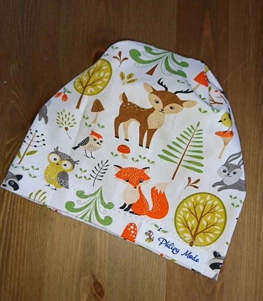 - Mütze Beanie für Babys 38 cm KU genäht aus Jersey - Mütze Beanie für Babys 38 cm KU genäht aus Jersey