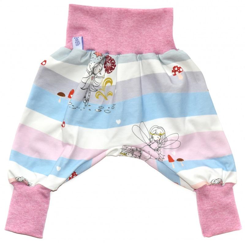Kleinesbild - Baby oder Kinder Set Pumphose Mütze (Beanie oder Knotenmütze) Elfen
