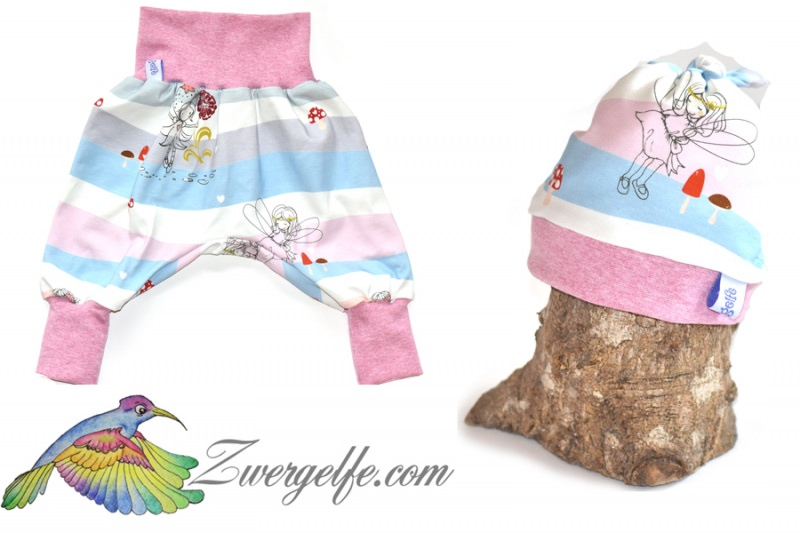 - Baby oder Kinder Set Pumphose Mütze (Beanie oder Knotenmütze) Elfen - Baby oder Kinder Set Pumphose Mütze (Beanie oder Knotenmütze) Elfen