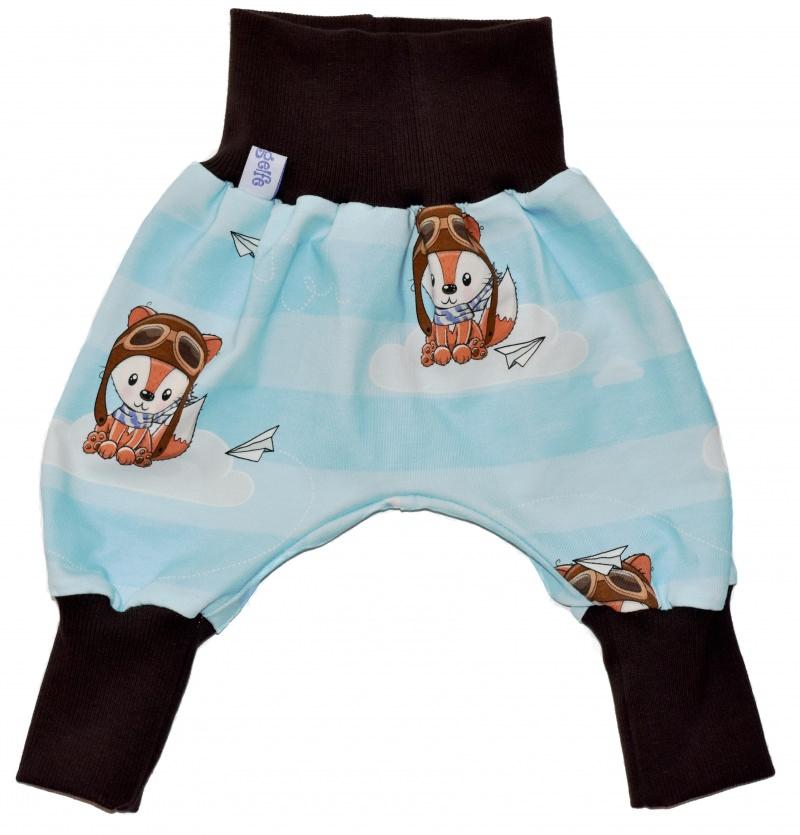Kleinesbild - Baby oder Kinder Set Pumphose Mütze (Beanie oder Knotenmütze) Bruchpilot, Fuchs, braun