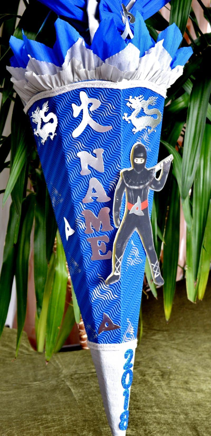 Kleinesbild - Schultüte Zuckertüte Ninja für Jungs  Drache