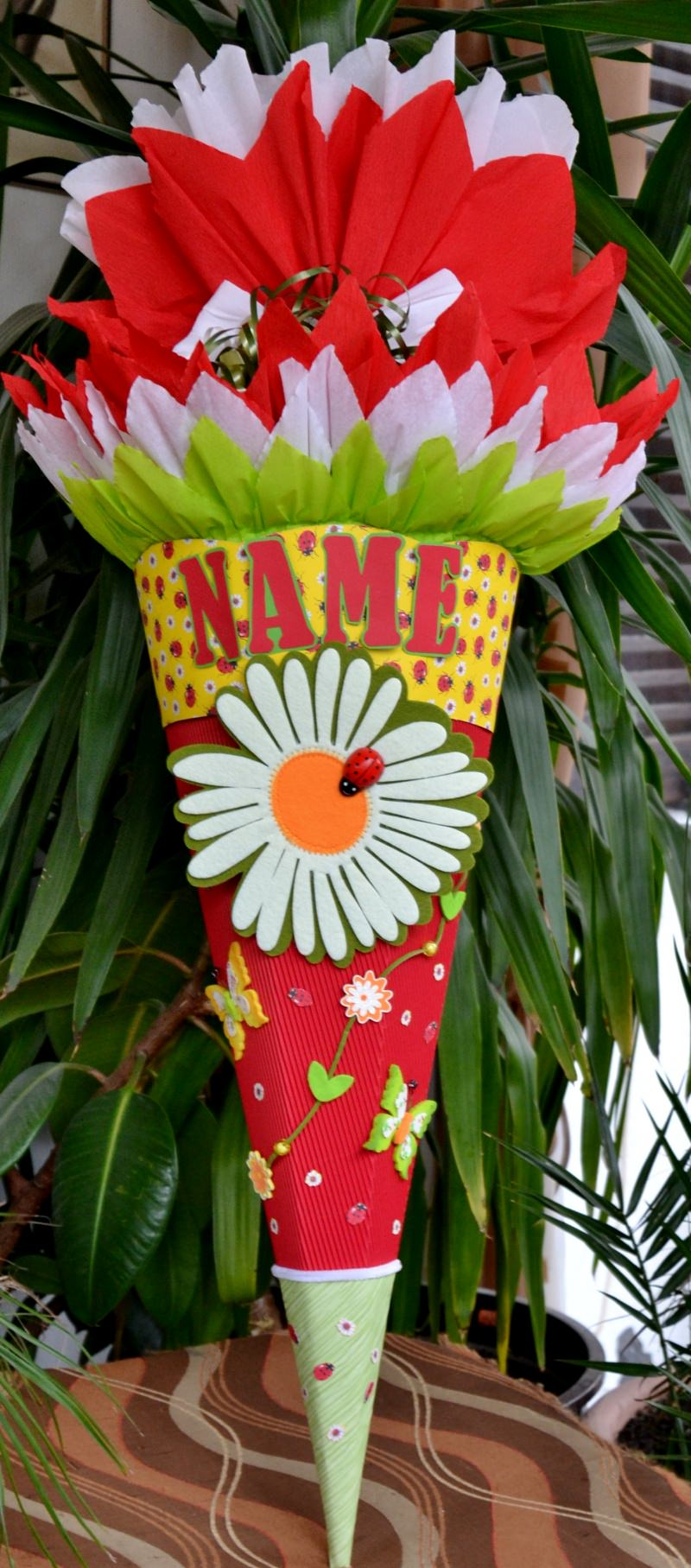 - Schultüte Zuckertüte Marienkäfer neu Einschulung Blume Schmetterling Rohling 68 - Schultüte Zuckertüte Marienkäfer neu Einschulung Blume Schmetterling Rohling 68