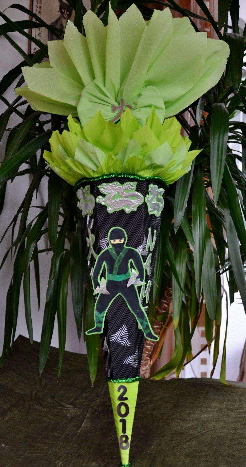 - Schultüte Zuckertüte Ninja für Jungs  Drache  (Kopie id: 24972) - Schultüte Zuckertüte Ninja für Jungs  Drache  (Kopie id: 24972)