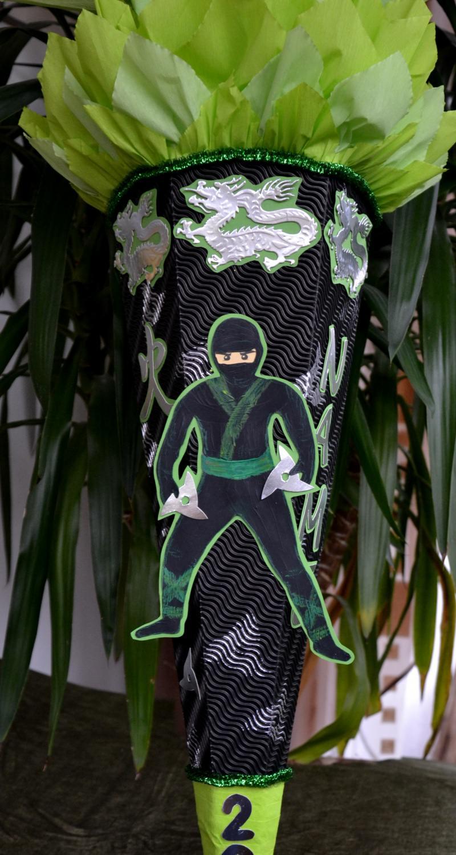 Kleinesbild - Schultüte Zuckertüte Ninja für Jungs  Drache  (Kopie id: 24972)