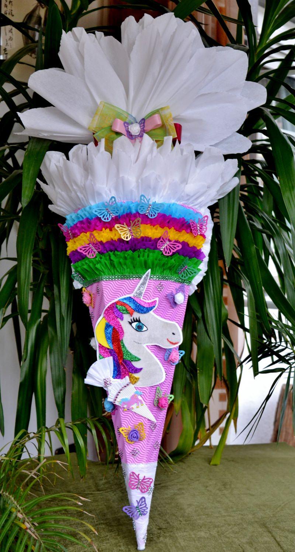 - Handgemachte Schultüte Pegasus Zuckertüte  Einhorn Pferd - Handgemachte Schultüte Pegasus Zuckertüte  Einhorn Pferd