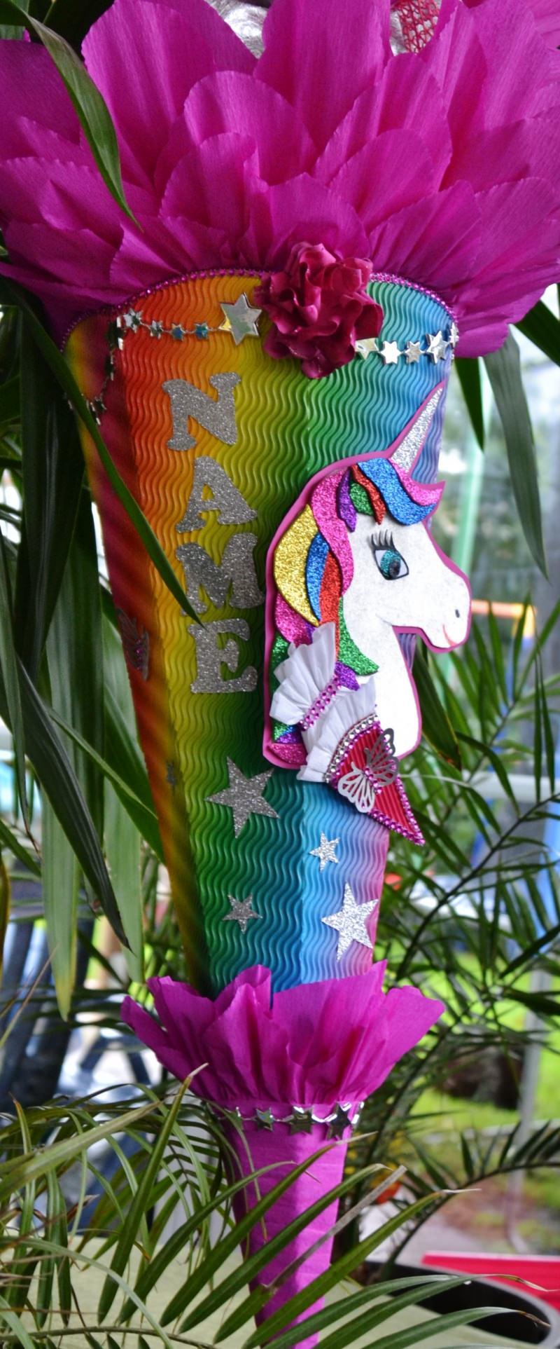 Kleinesbild - Handgemachte Schultüte Pegasus Zuckertüte  Einhorn Pferd