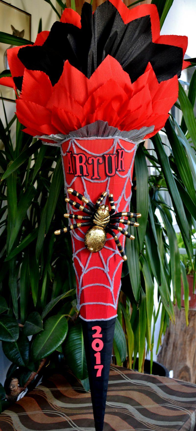 -  Handgemachte XXL Schultüte Zuckertüte Spinne für Jungs Spider -  Handgemachte XXL Schultüte Zuckertüte Spinne für Jungs Spider