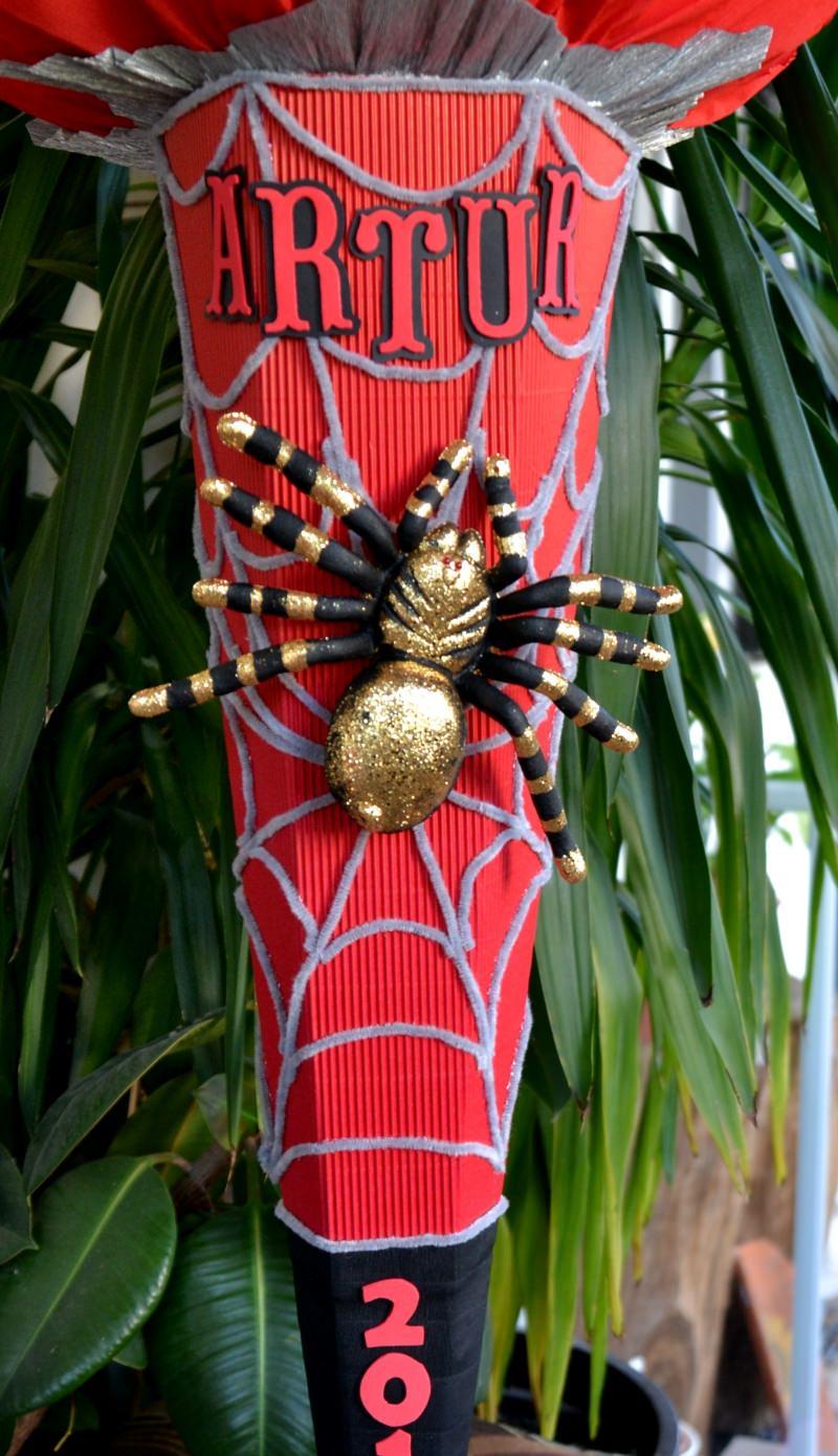 Kleinesbild -  Handgemachte XXL Schultüte Zuckertüte Spinne für Jungs Spider