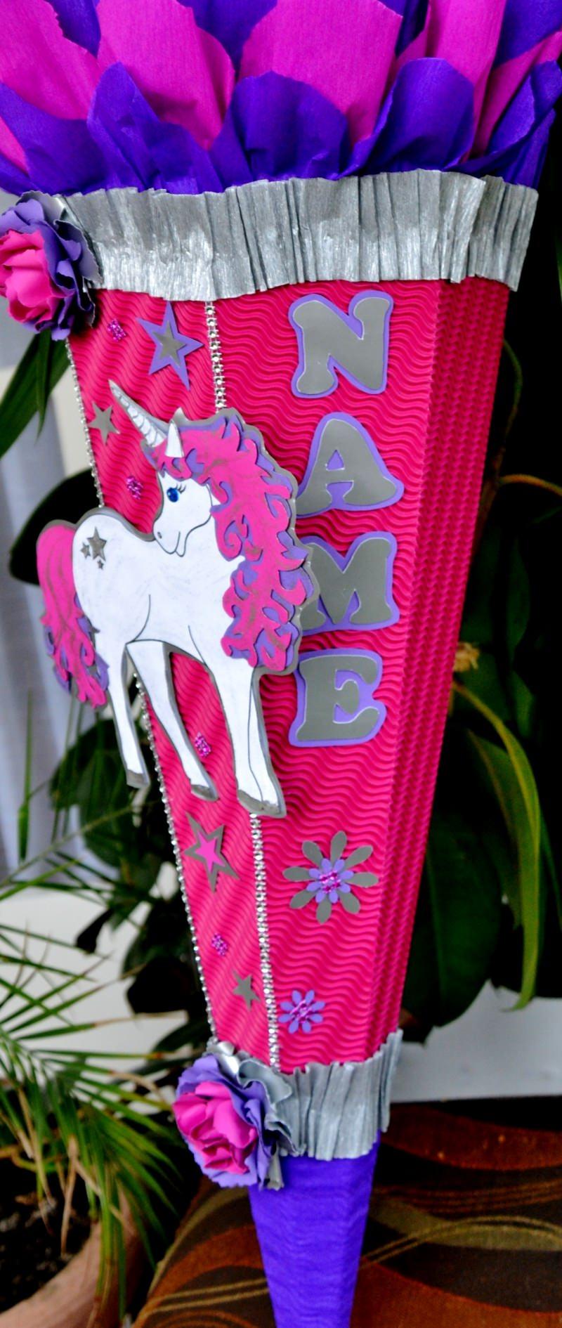 Kleinesbild - Handgemachte Schultüte Pegasus Zuckertüte  Einhorn Pferd  ABI Abitur Geschenk