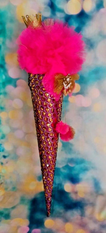 -  Schultüte Krone Schmetterling Zuckertüte mit dem Deckel -  Schultüte Krone Schmetterling Zuckertüte mit dem Deckel