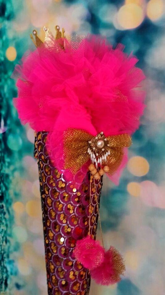 Kleinesbild -  Schultüte Krone Schmetterling Zuckertüte mit dem Deckel