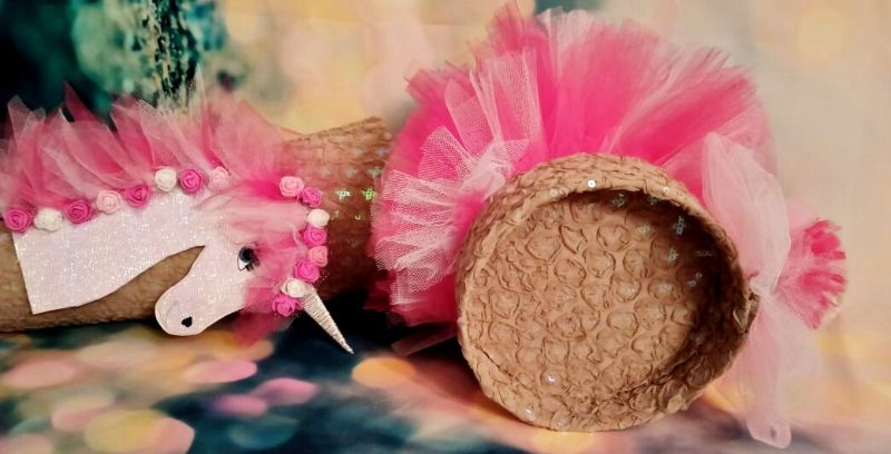 Kleinesbild - Schultüte  Einhorn Pegasus Pferd Schmetterling  Zuckertüte