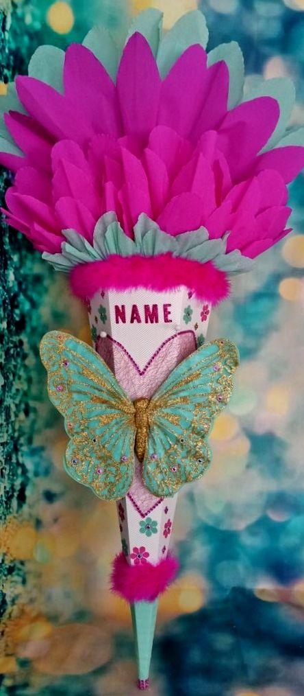 - Schultüte Schmetterling Zuckertüte  - Schultüte Schmetterling Zuckertüte