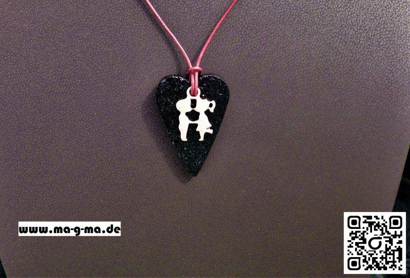 - Herz Halskette aus Gießbeton hergestellt  - kaufen - Herz Halskette aus Gießbeton hergestellt  - kaufen
