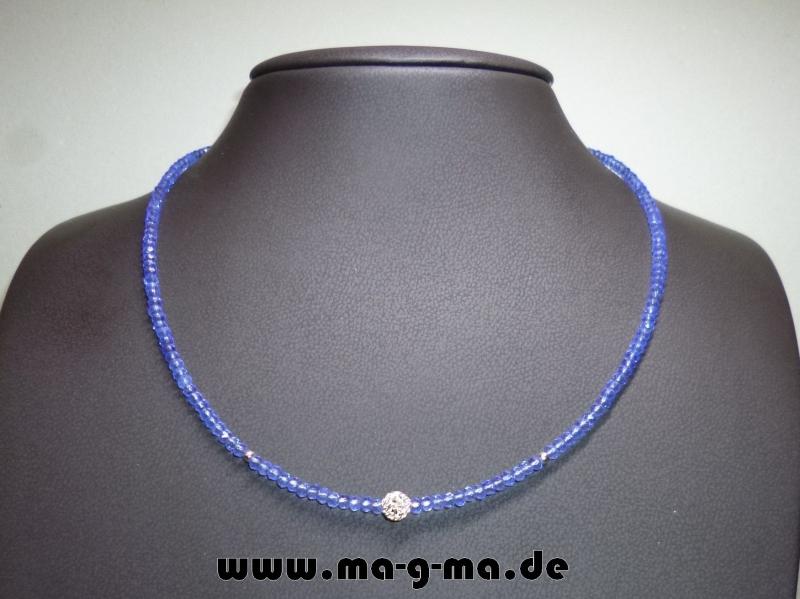 - Facett-Glasperlen-Kette in Eisblau mit 925er Silberkugeln - ohne Versandkosten kaufen - Facett-Glasperlen-Kette in Eisblau mit 925er Silberkugeln - ohne Versandkosten kaufen