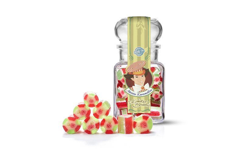 - * Meister Karamellus * Himbeer- Pfefferminz Bonbons im 100 g Glas * - * Meister Karamellus * Himbeer- Pfefferminz Bonbons im 100 g Glas *