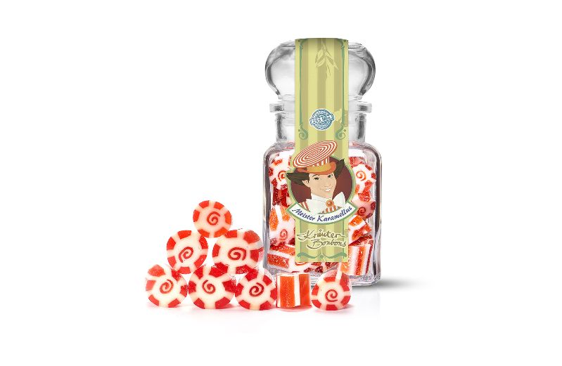 - * Meister Karamellus * Ingwer-Orange Bonbons im 100 g Glas * - * Meister Karamellus * Ingwer-Orange Bonbons im 100 g Glas *