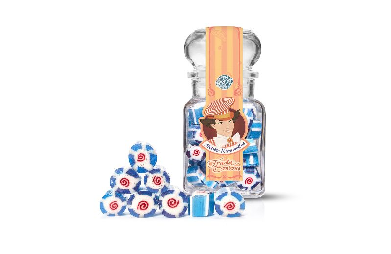 - * Meister Karamellus * Blaubeer Bonbons im 100 g Glas * - * Meister Karamellus * Blaubeer Bonbons im 100 g Glas *