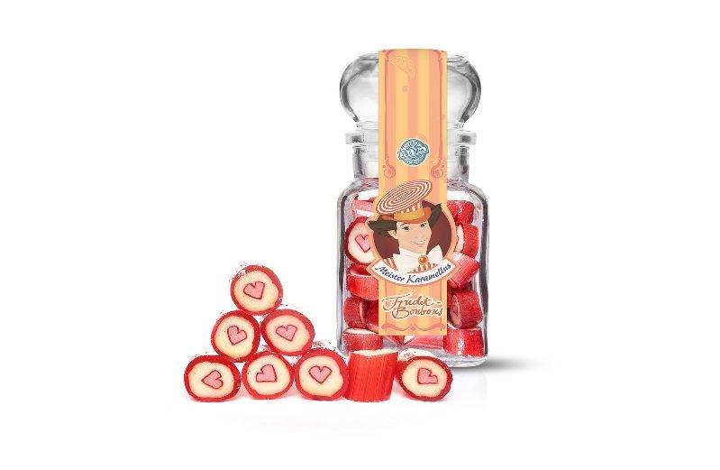 - * Meister Karamellus * Himbeer - Vanille Bonbons im 100 g Glas * - * Meister Karamellus * Himbeer - Vanille Bonbons im 100 g Glas *