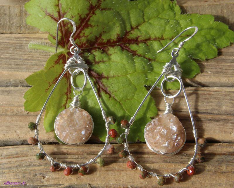 Kleinesbild - Große Unikat Ohrhänger Perle Boho handmade entdecken