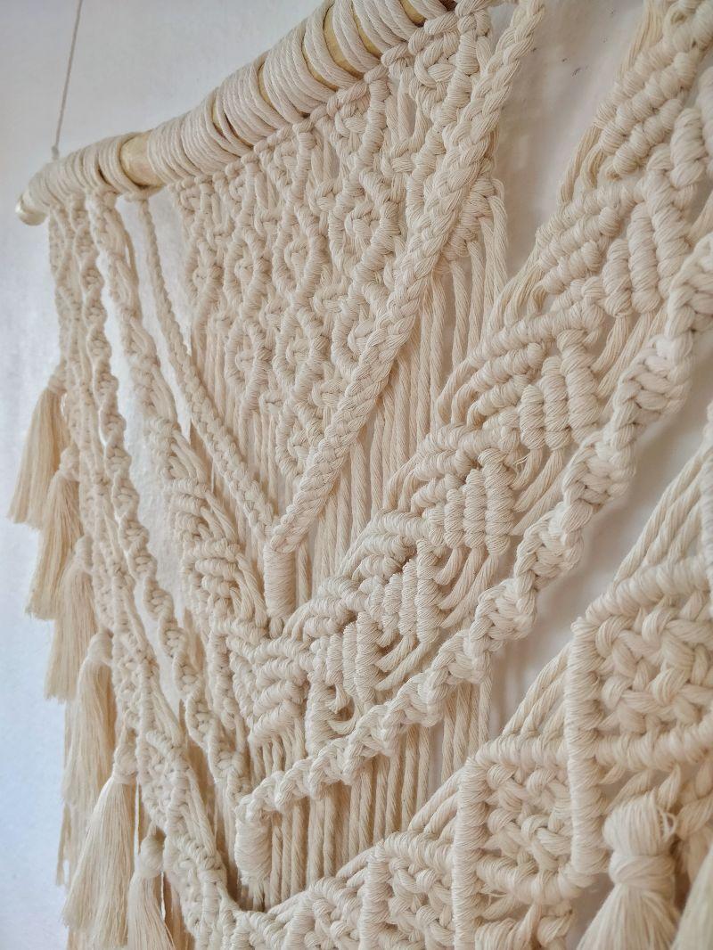 Kleinesbild - Makramee-Wandbehang Sara mit Quasten | Macrame | Boho | Ethno | Wandteppich | Wanddeko | Boho chic | handgemacht | geknüpft