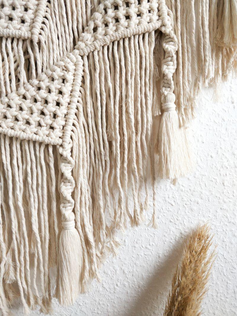 Kleinesbild - Makramee-Wandbehang Nala mit Quasten | Macrame | Boho | Ethno | Wandteppich | Wanddeko | Boho chic | handgemacht | geknüpft (Kopie id: 100259034)