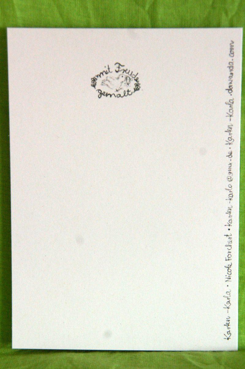 """Kleinesbild - Mit Freude gemalte Klappkarte """"Alles Liebe zum Geburtstag"""""""