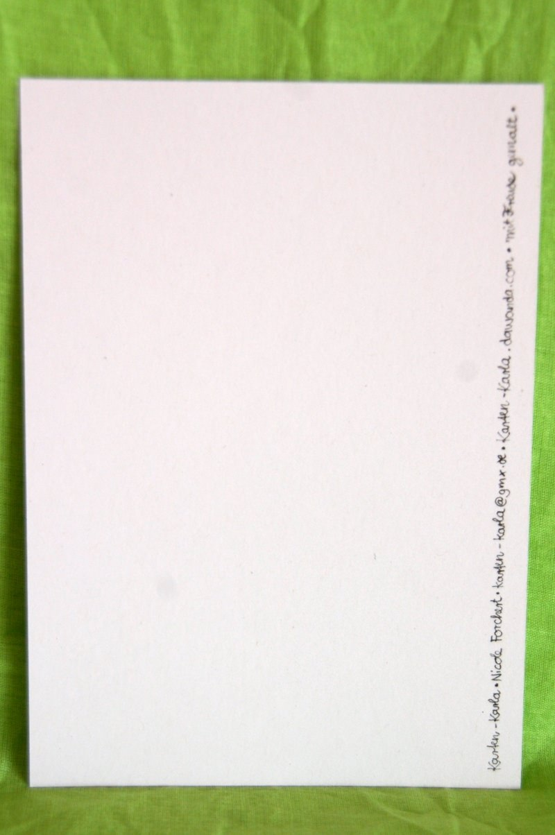 """Kleinesbild - Handgemalte Blumenkarte """"Herzliche Grüße"""""""