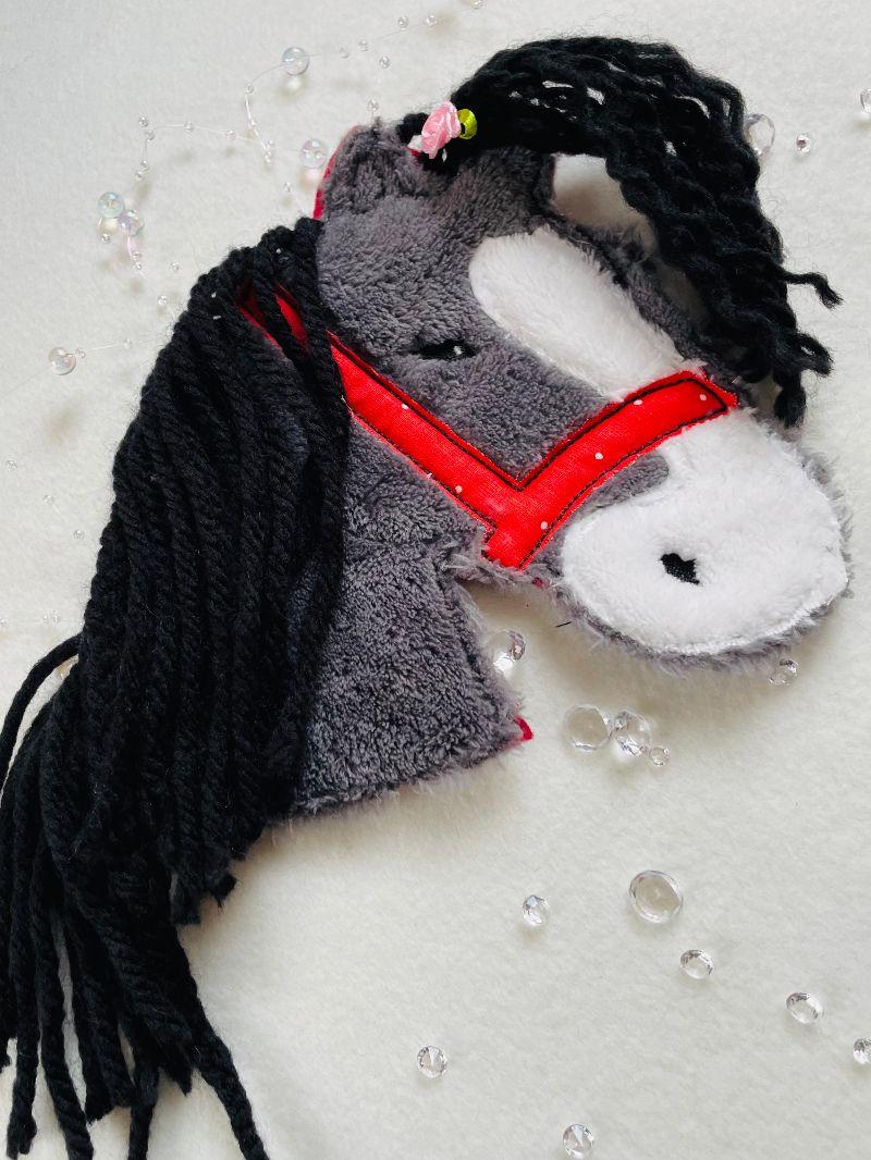 Kleinesbild - Pferd, Patches, Aufnäher, Bügelapplikation,Patch, Pony, Wollmähne Große Applikation 16 x 16