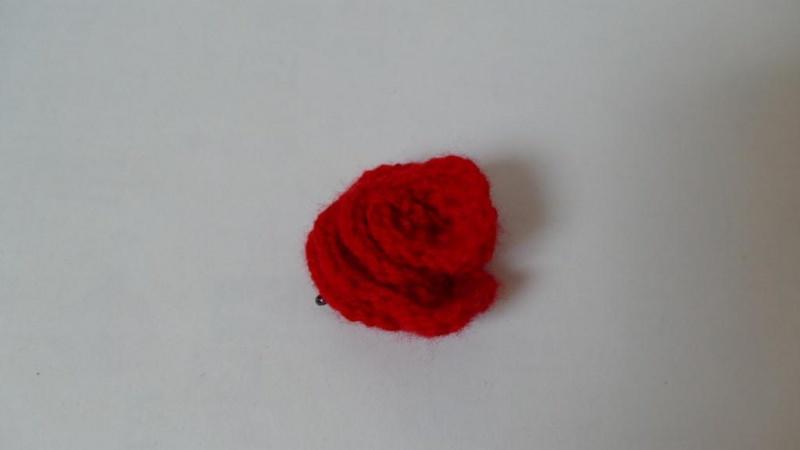 - Haarspange mit einer gehäkelten Blume als Accessoire ♥ - Haarspange mit einer gehäkelten Blume als Accessoire ♥