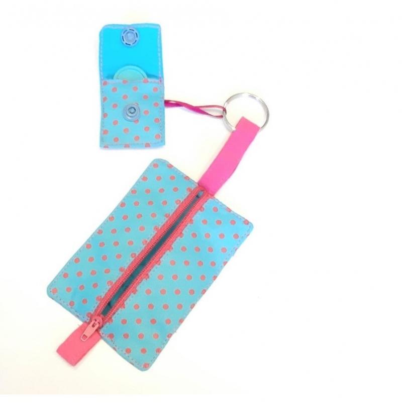 Kleinesbild - Schlüsseltasche und Chiptasche genähte, Schlüsseletui/ Geldbeutel/  Reisegeldbeutel