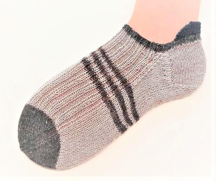 Kleinesbild - Sneakersöckchen Gr. 39-40, Herrensneaker, Stricksocken, Wollsocken, Strümpfe, Wollstrümpfe,Herrensocken