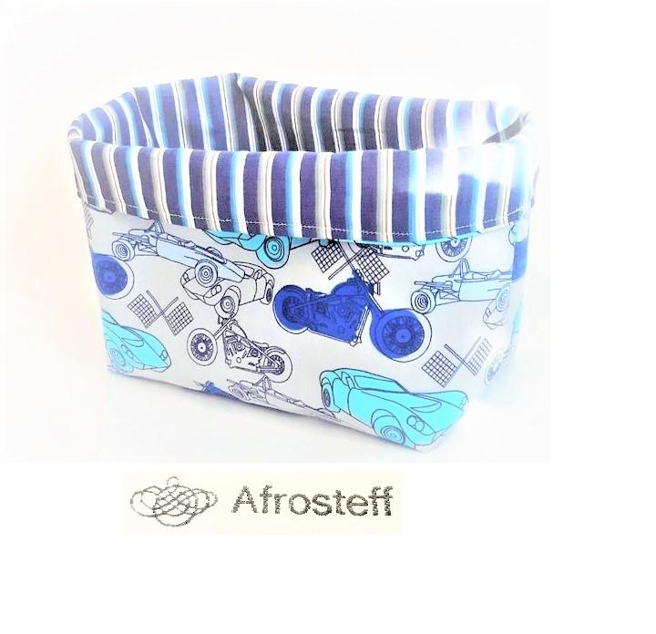 Kleinesbild - Utensilo zur Aufbewahrung, Stoffbox mit Einhorn Motiv, Stoffkiste, Spielzeugkiste, Stoffkorb